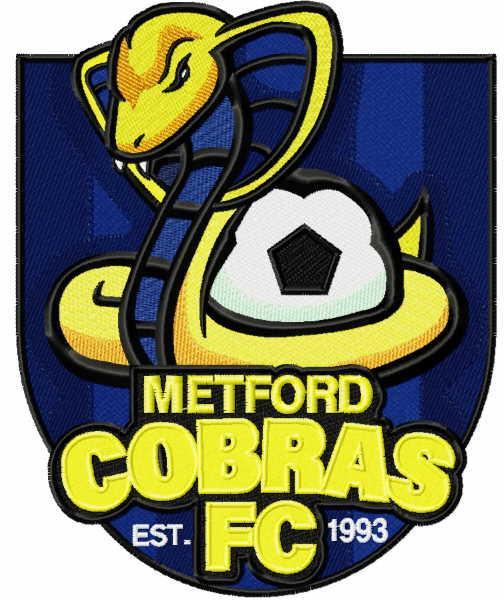 Metford Cobras FC logo embroidery design