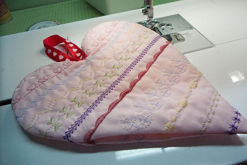 A not yet stuffed pink pincushion