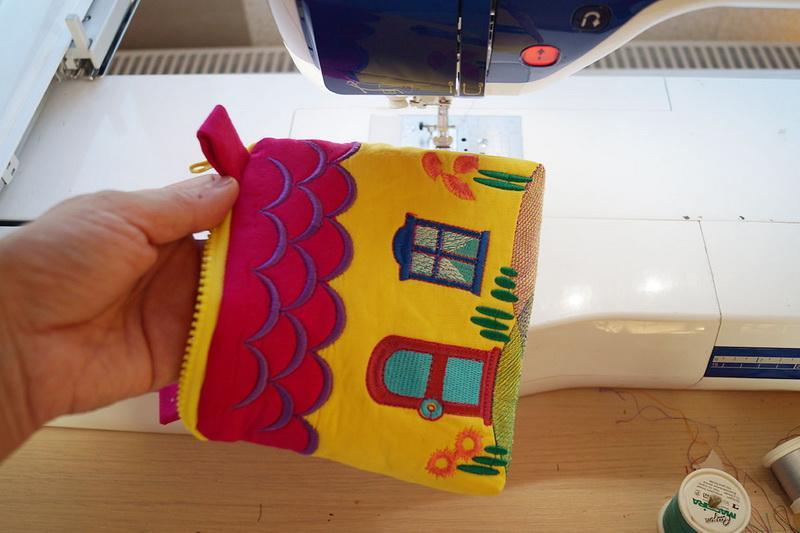 An embroidered kids bag