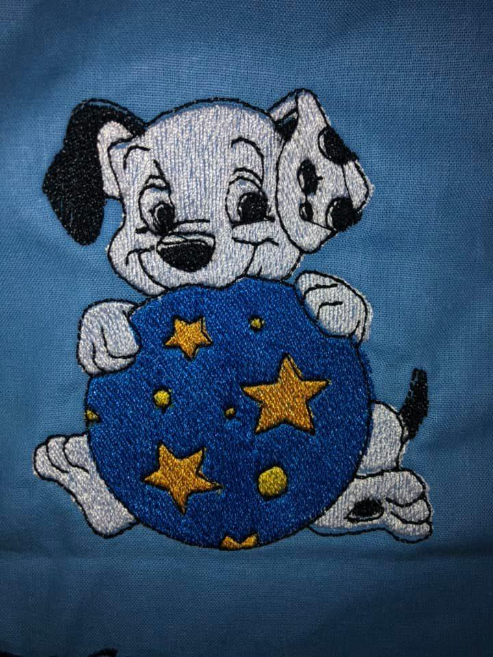 Funny puppy embroidery design