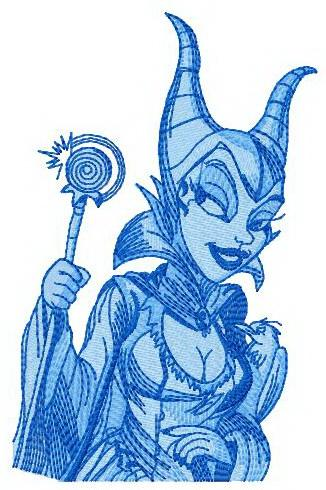 Maleficent embroidery design 2