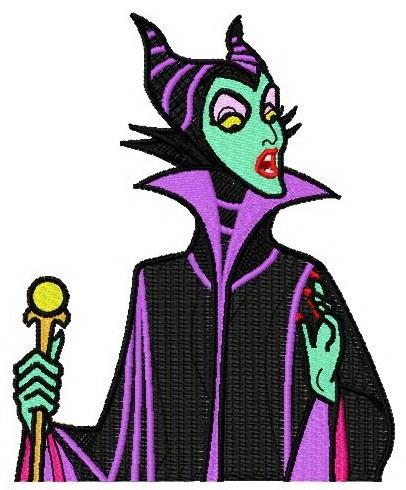Maleficent embroidery design 3
