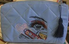 Cosmetics bag with Make up design