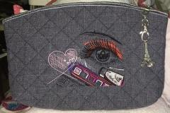 Cosmetics bag with Makeup design