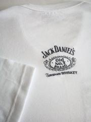 Embroidered t-shirt with Jack Daniel's logo