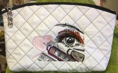 Cosmetics bag with Eye design