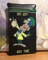 Embroidered bag with Mad Hatter design