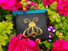 Embroidered handbag with Bee design