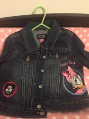 Embroidered jacket with Daisy duck and Mickey Mouse designs