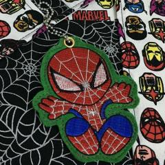 Embroidered keychain with Spiderman design