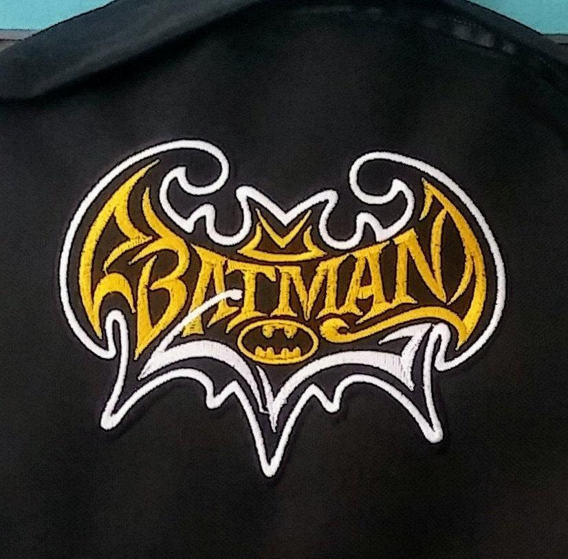 Batman embroidery design