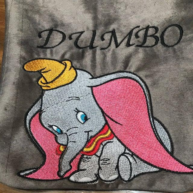 Dumbo elephant embroidery design