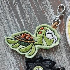 Embroidered keychain with Turtle design