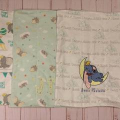 Embroidered sheet with Sleeping Dumbo design