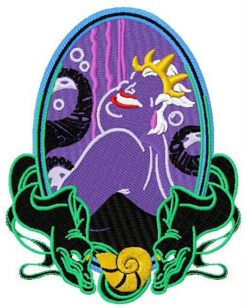 Ursula machine embroidery design