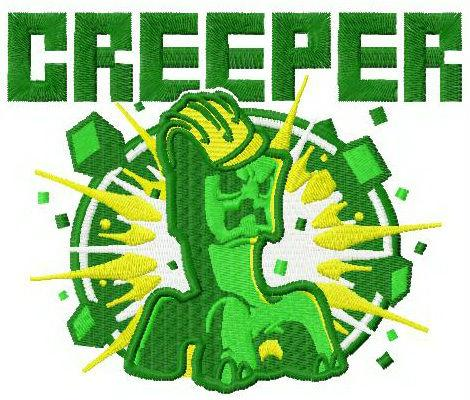 Creeper machine embroidery design