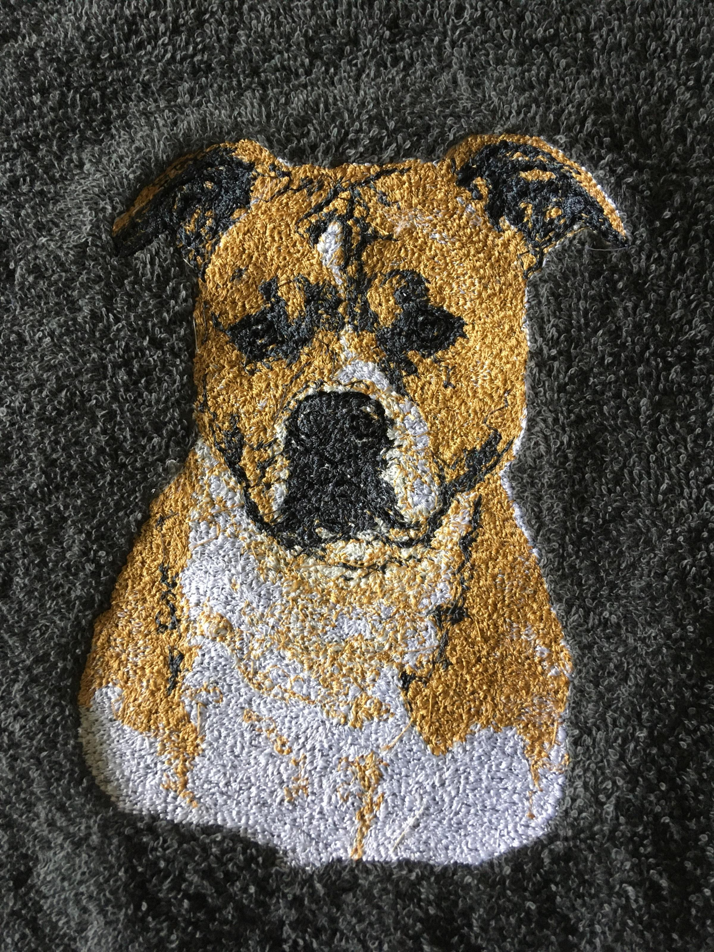 Embroidered American Staffordshire Terrier design