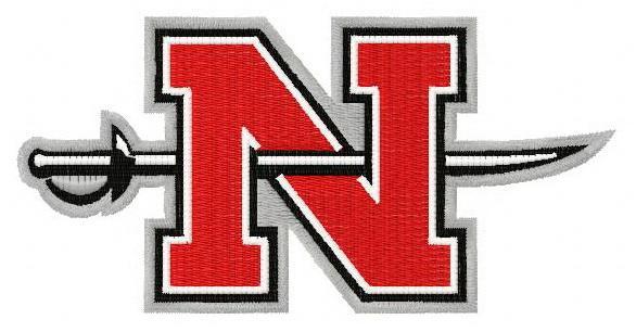 Nicholls state colonels logo machine embroidery design 3