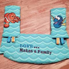 Embroidered baby's accessories with Fish design