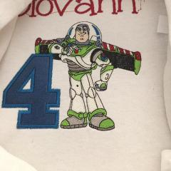 Buzz embroidery design