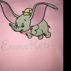Flying Dumbo embroidery design
