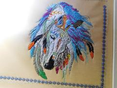 Horse portrait embroidery design