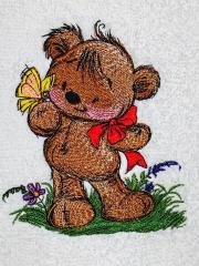 Teddy bear with Butterfly design