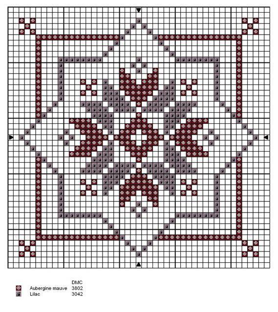 Cross stitch design for biscornu
