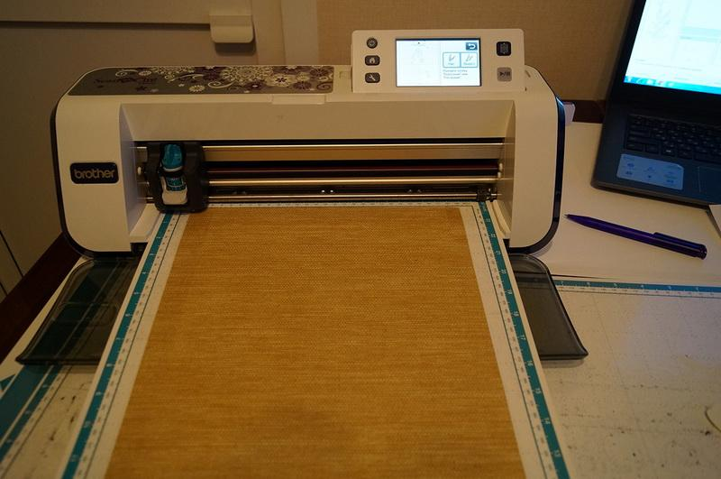 Roller shade on ScanNCut cutting mat