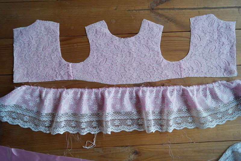 Parts of girl's dress
