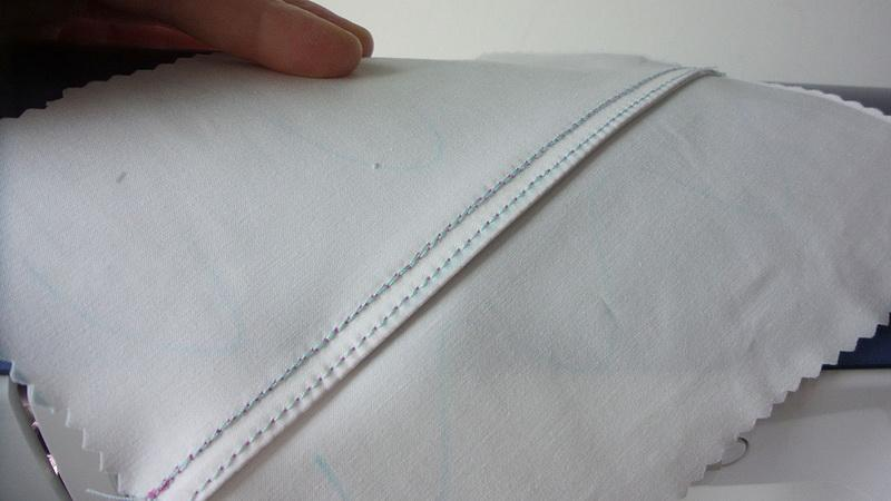 Double stitched seam wrong side