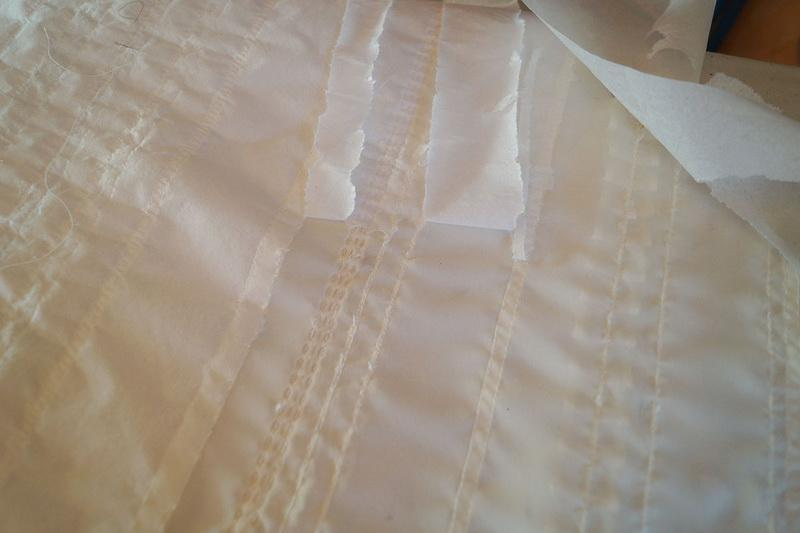Fusible interfacing on the wrong side of sleeve