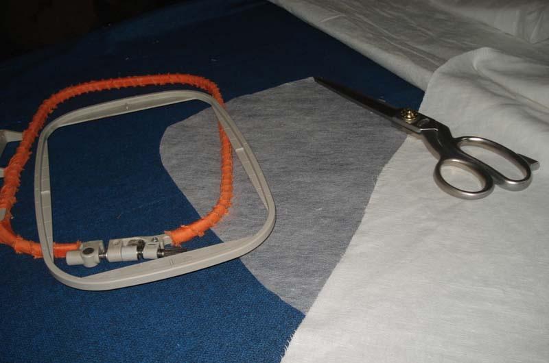 Hoop, scissors and stabilizer