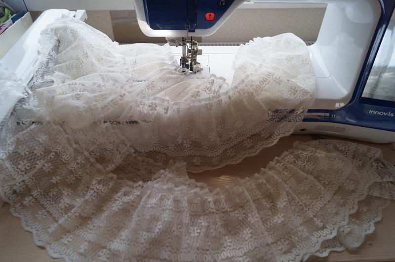 Ruffled piece of lace
