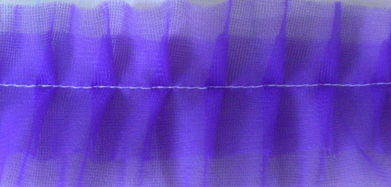 Lilac ruffled fabric