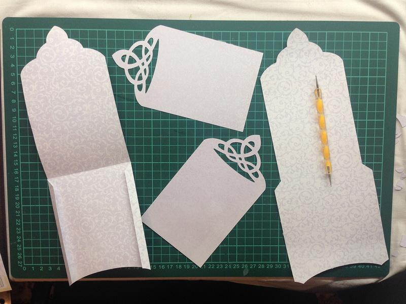 Parts of handmade envelope