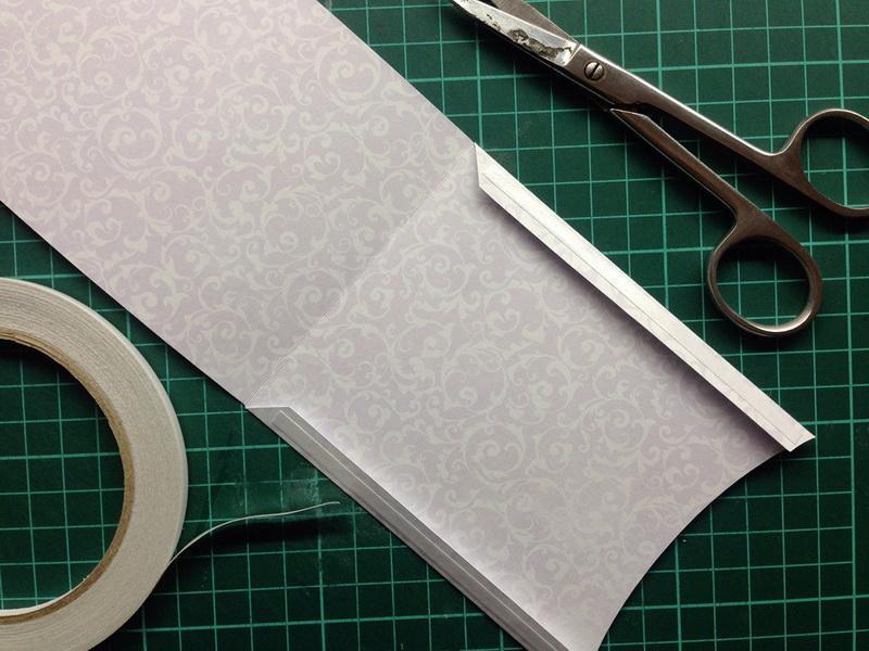 Handmade envelope and scissors