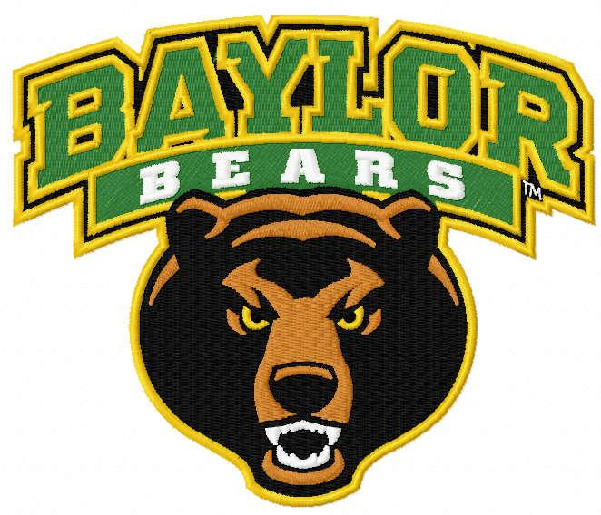 Baylor Bears logo embroidery design