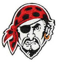 Pittsburgh Pirates Logo machine embroidery design 3