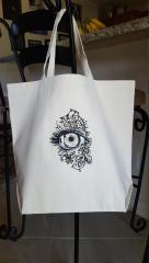 Embroidered bag with Eye design