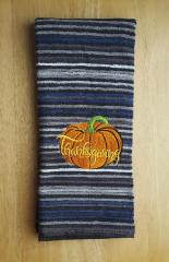 Embroidered towel with Pumpkin design