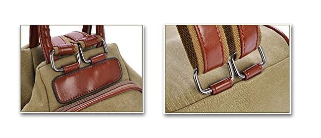 Canvas bag handles