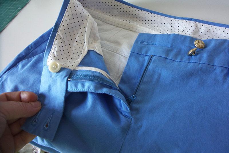 Zipper on the left side