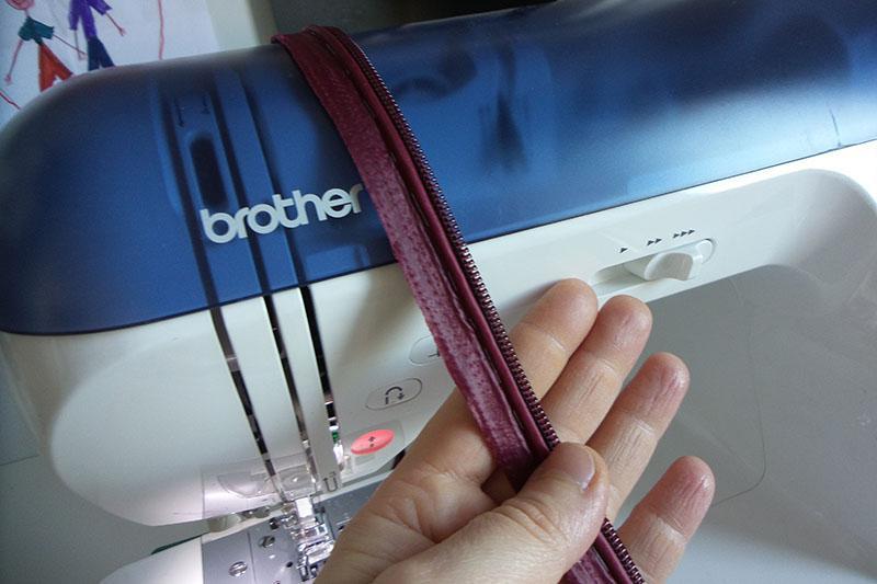 Purple zipper and purple cord