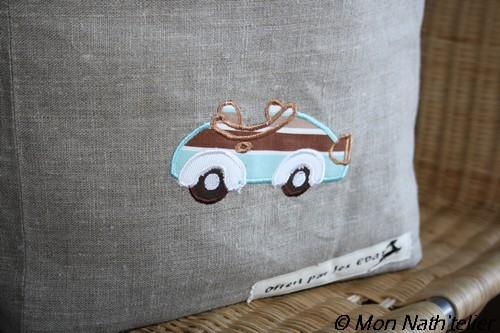 Old cars applique embroidered design
