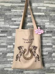 Beach bag with Horse free embroidery design