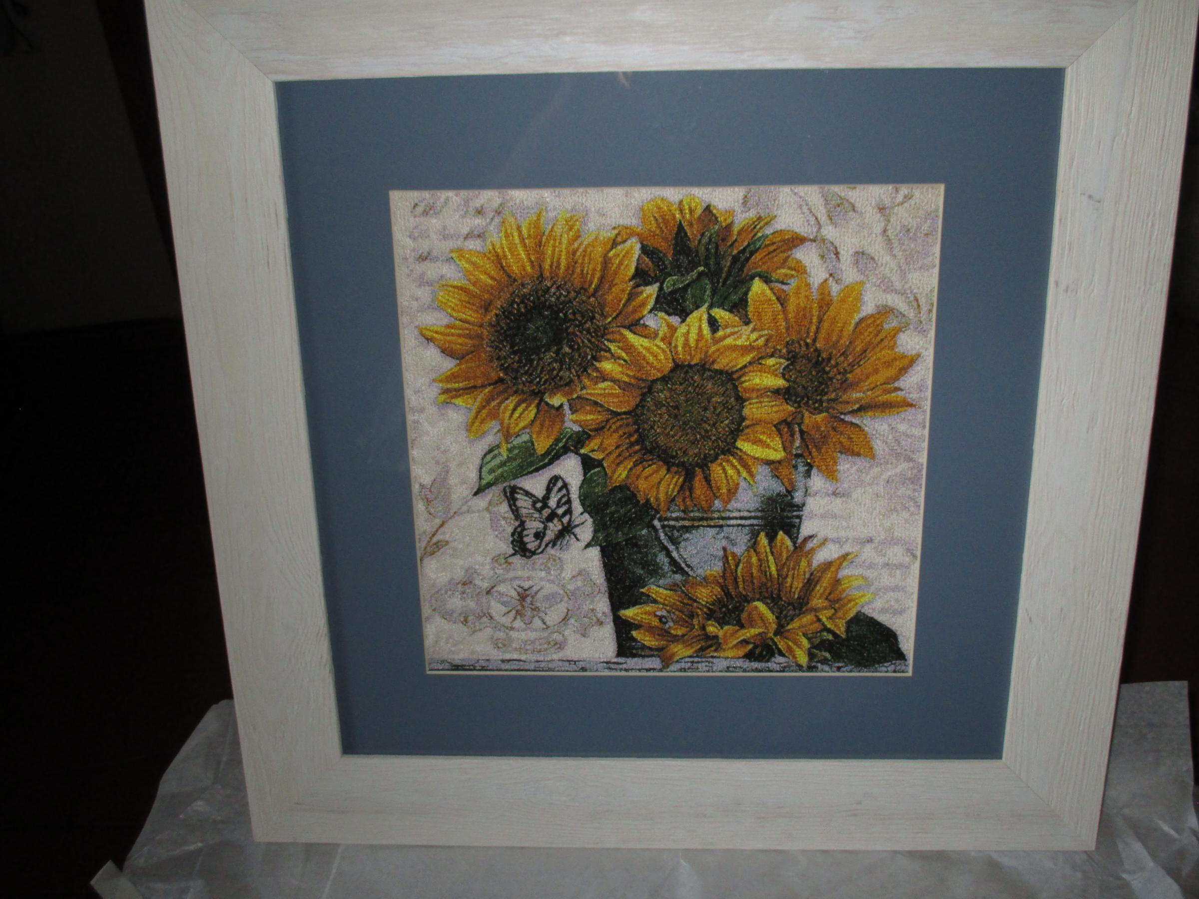 Sunflower photo stitch free embroidery design