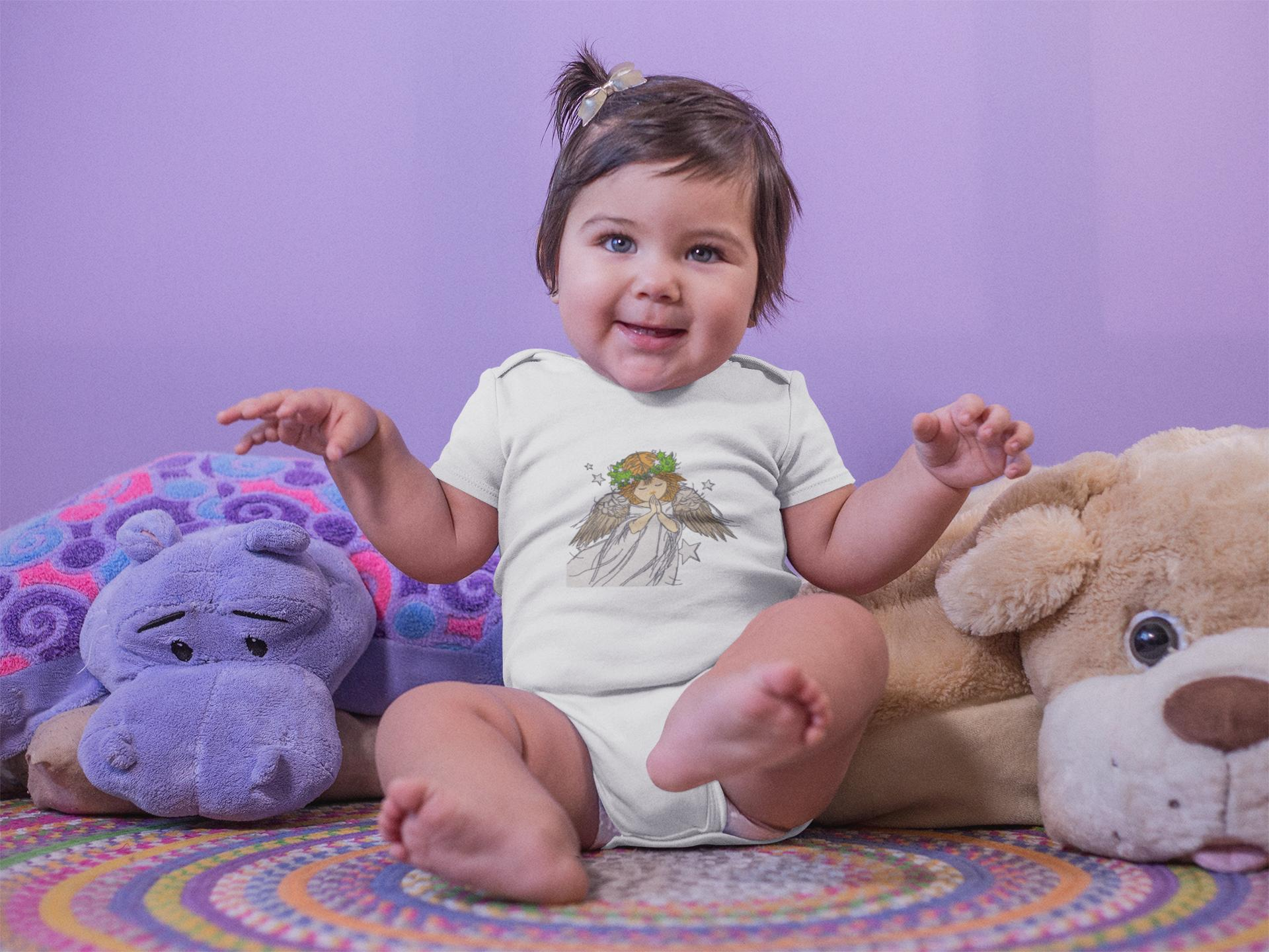 Embroidered baby clothing with Angel design