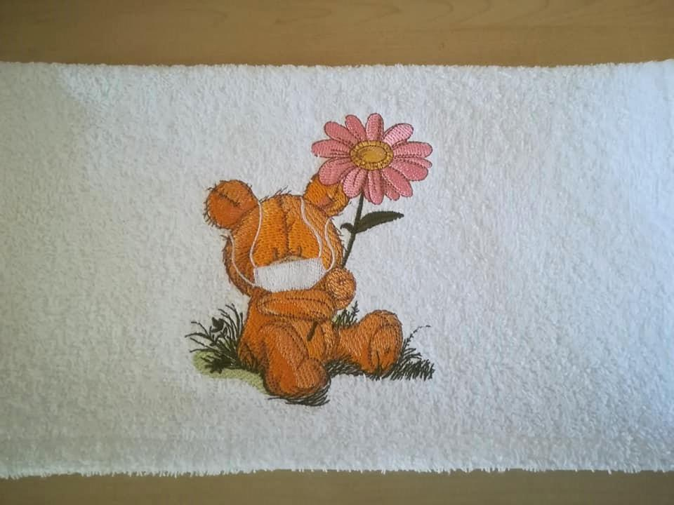 Teddy bear in mask design