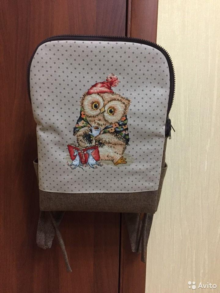 Embroidered backpack with Aged owl design